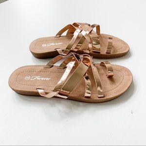 Forever Rosegold Slide Sandals